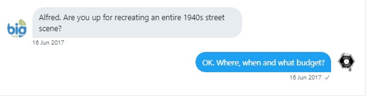 A screenshot of the Twitter DM showing the conversation mentioned above,