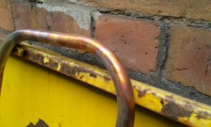 discoloration of the copper tube due to heat